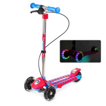 Самокат Small Rider Cosmic Zoo Galaxy Maxi со светящимися колесами (красный)