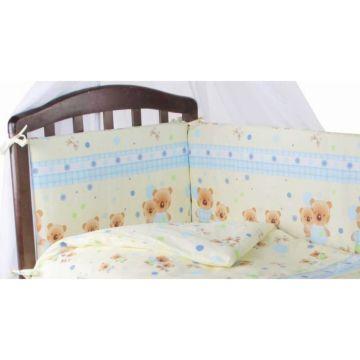 Бампер для кроватки Baby Care Мишутки (Светло-голубой)