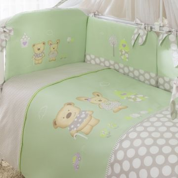 Комплект постельного белья Perina Венеция 105х170см (3 предмета, хлопок/сатин) (Салатовый)