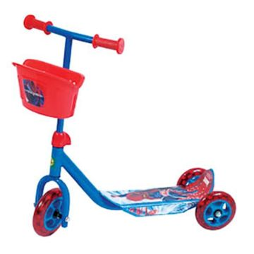 Самокат Toymart с корзиной Spider Man