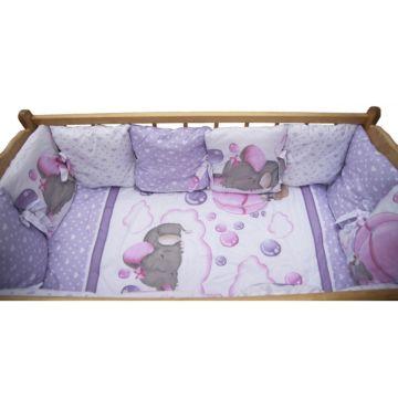 Комплект постельного белья из сатина AmaroBaby (18 предметов) Нежность