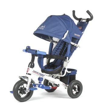 """Трехколесный велосипед TechTeam 952S-AT с надувными колесами 10"""" и 8"""" (синий)"""
