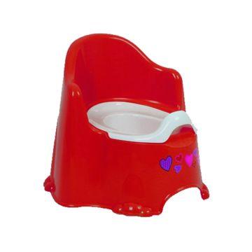 Горшок Dunya Plastik Комфорт (Красный)