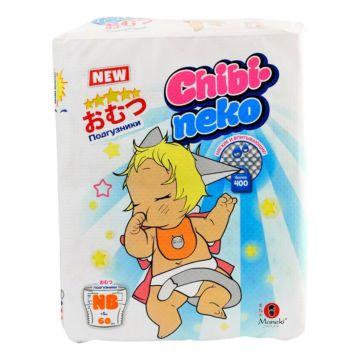 Подгузники Maneki Chibi-neko NB (до 5 кг) 60 шт