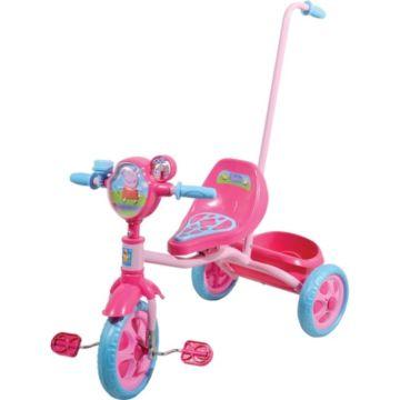 Трехколесный велосипед 1Toy с ручкой Пеппа