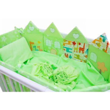 Комплект постельного белья Valle Grace 120х60см (7 предметов, хлопок) зеленый