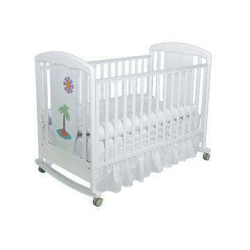 Кроватка детская Papaloni Vitalia (качалка-колесо) (Белый)