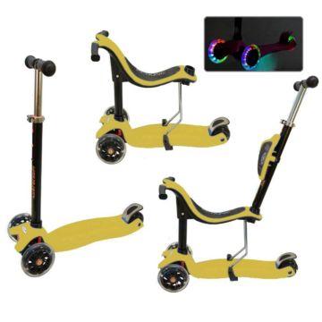 Самокат Ecoline Onex 3D со светящимися колесами (желтый)