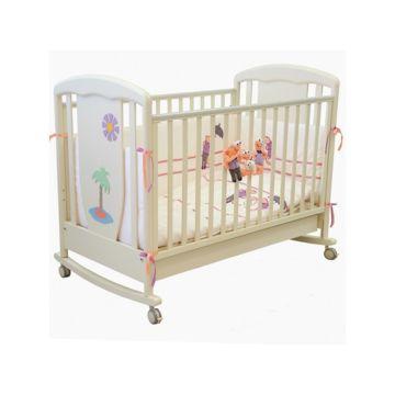Кроватка детская Papaloni Vitalia (качалка-колесо) (Слоновая кость)