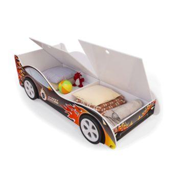 Кровать-машина с ящиками Мебель Мечты (пламя)