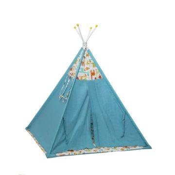 Детская палатка Polini Вигвам Жираф (Голубой)