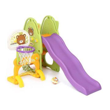 Горка детская Ya-Ya Toy Медвежонок Y1225 с кольцом, воротами и мячом