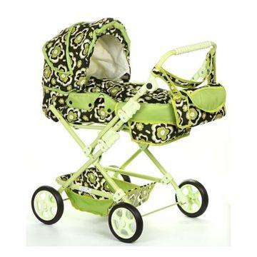 Коляска для куклы Wakart Майя (зеленая)