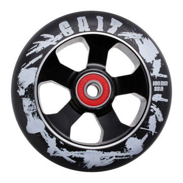 Колесо для самоката Grit Alloy Core Black Max Drilled 110мм ABEC 9 (черное)