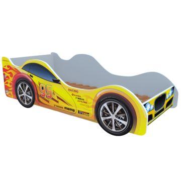 Кровать-машина Кроватка5 Машинки (Молния желтая)