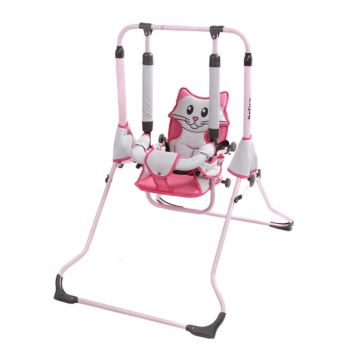 Качели напольные Tako HBU Animals со съёмным поручнем Котёнок (Серо-розовый)