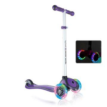 Самокат Globber Primo Plus со светящимися колесами (фиолетовый)