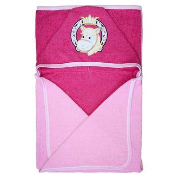 Банное полотенце 120*100 Золотой Гусь (розовый)