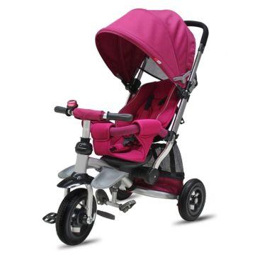 """Трехколесный велосипед Modi AIR Stroller с надувными колесами 10"""" и 8"""" (розовый)"""