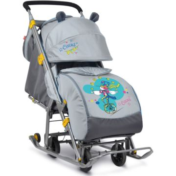 Санки-коляска Ника Детям 7 (Жонглер серый)