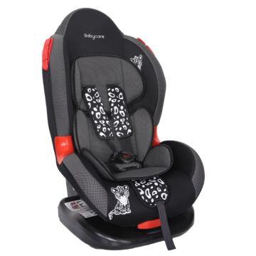 Автокресло Baby Care BC-02 Леопардик Люкс (карбон/серый)