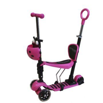 Самокат Ecoline Alfa 5 в 1 (розовый)