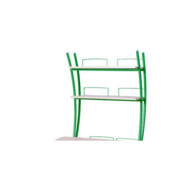 Надстройка на парты Астек Колибри/Юниор (береза/зеленый)