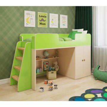Игровая кровать Мебель Мечты (зеленая)