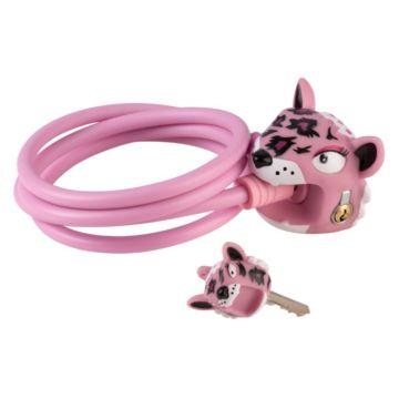 Замок тросовый Crazy Safety (Pink Leopard)