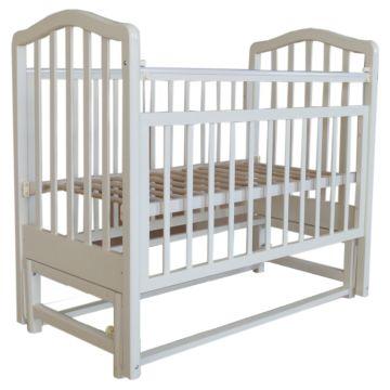 Кроватка детская Saidov Лаура 5 (поперечный маятник) (слоновая кость)