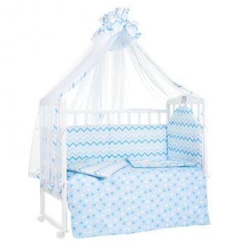 Комплект постельного белья Sweet Baby Stelle Blu (7 предметов, поплин)