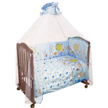 Комплект постельного белья Сонный Гномик Акварель 120х60см (3 предмета) голубой