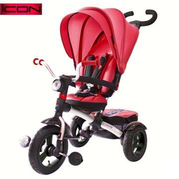 """Трехколесный велосипед RT Icon 6 Luxe Aluminium с надувными колесами 11"""" и 10"""" (красный)"""