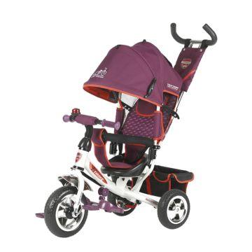 """Трехколесный велосипед TechTeam 950D с ПВХ-колесами 10"""" и 8"""" (фиолетовый)"""