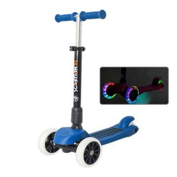 Самокат TechTeam Scorpion XL 2018 со светящимися колесами (синий)