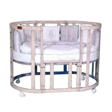 Кроватка-трансформер Incanto Estel 10 в 1 (беленый дуб)