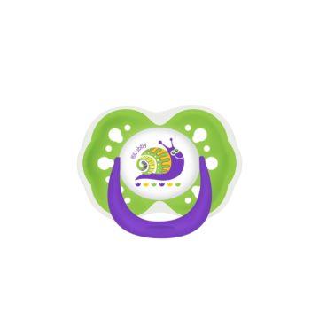 Пустышка Lubby Русские мотивы со скошенным соском (от 6 мес.) (Зеленый)