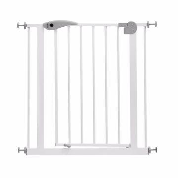 Ворота безопасности Baby Safe 76х85см (бело-серые)