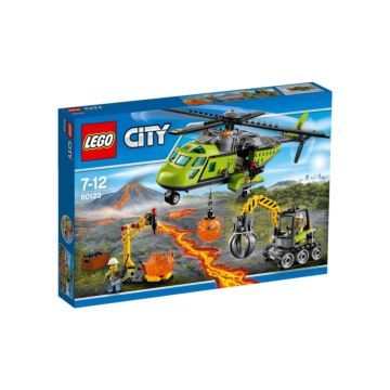 Конструктор Lego City 60123 Город Грузовой вертолёт исследователей вулканов