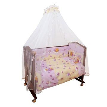 Комплект постельного белья Сонный Гномик Мишкин Сон 120х60см (3 предмета) розовый