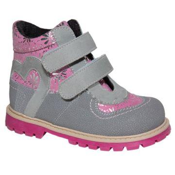 Ботинки ортопедические Twiki утепленные (серо-розовые, 21-25)