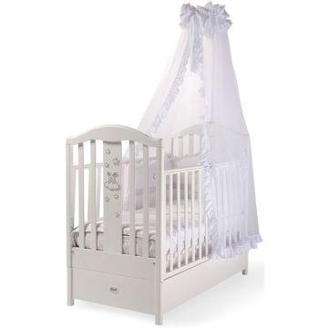 Кроватка детская Feretti FMS Romance (продольный маятник) (белая)