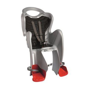 Велокресло на багажник Bellelli Mr Fox Clamp до 22 кг (серебристое)