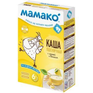 Пшеничная каша Мамако на козьем молоке с грушей и бананом (с 6 мес.)