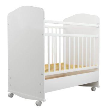Кроватка-качалка Агат Золушка-9 с ящиком (Белый)