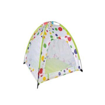 Детская палатка с каркасом и шарами Yako (Бело-зеленый)