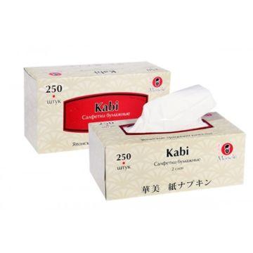 """Салфетки бумажные Maneki """"Kabi"""" 2 слоя, 250 шт"""