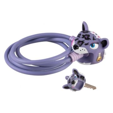 Замок тросовый Crazy Safety (Purple Leopard)