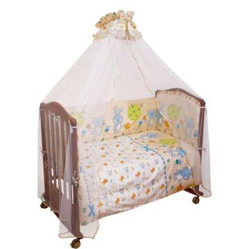 Комплект постельного белья Сонный Гномик Акварель 120х60см (7 предметов) голубой