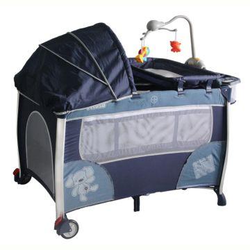 Манеж-кровать Pituso Flora Jeans с капором